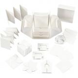 Explosion Box, Naturweiß, Größe 7x7x7,5+12x12x12 cm, 1 Stck.