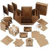 Explosion Box, Natur, Größe 7x7x7,5+12x12x12 cm, 1 Stck.