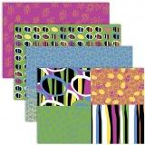 Découpage-Papier, Fröhliche Farben, 25x35 cm, 17 g, 4x2 Bl./ 1 Pck.