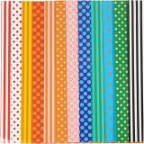 Glanzpapier, Sortierte Farben, Pattern, 32x48 cm, 80 g, 100 Bl. sort./ 1 Pck.