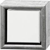 ArtistLine Künstlerleinwand mit Rahmen, Antiksilber, Weiß, Größe 14x14 cm, 1 Stck.
