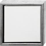 ArtistLine Künstlerleinwand mit Rahmen, Antiksilber, Weiß, Größe 24x24 cm, 360 g, 1 Stck.