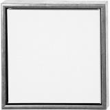 ArtistLine Künstlerleinwand mit Rahmen, Antiksilber, Weiß, Größe 34x34 cm, 360 g, 1 Stck.