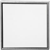 ArtistLine Künstlerleinwand mit Rahmen, Antiksilber, Weiß, Größe 44x44 cm, 360 g, 1 Stck.