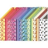 Color Bar-Papier, A4, 210x297 mm, 100 g, 16 Bl. sort./ 1 Pck.