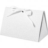 Geschenkverpackung, Grau, Punkte, Größe 15x7x8 cm, 250 g, 3 Stck./ 1 Pck.