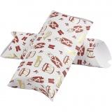Geschenkverpackung, Gold, Rot, Weiß, Nussknacker, Größe 23,9x15x6 cm, 300 g, 3 Stck./ 1 Pck.