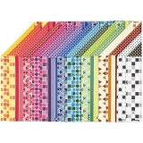 Color Bar-Karton, A4, 210x297 mm, 250 g, 16 Bl. sort./ 1 Pck