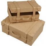 Koffer, Mini, H: 5 cm, L: 7.5 cm, B: 14 cm, 2 Stck./ 1 Set