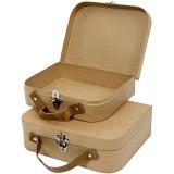 Koffer, handgearbeitet, Größe 25,5x20x8 cm, 2 Stck./ 1 Set
