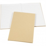 Notizbuch , Braun, A4, 60 g, 1 Stck.
