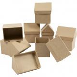 Schachteln in Hausform, H: 10,5 cm, Größe 6x8,5 cm, 20 Stck./ 1 Pck.