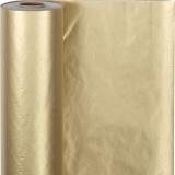 Geschenkpapier , Gold, B: 50 cm, 60 g, 100 m/ 1 Rolle