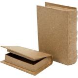 Schachtel in Buchform, Größe 8x11,5x2,5 cm, 2 Stck./ 1 Set