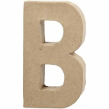 Buchstabe, B, H: 20,5 cm, B: 11,5 cm, dicke 2,5 cm, 1 Stck.
