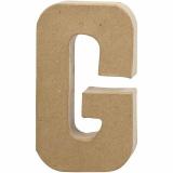 Buchstabe, G, H: 20,5 cm, B: 11,5 cm, dicke 2,5 cm, 1 Stck.