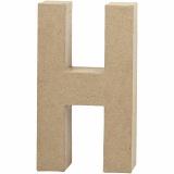 Buchstabe, H, H: 20,2 cm, B: 11,2 cm, dicke 2,5 cm, 1 Stck.