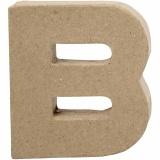 Buchstabe, B, H: 10 cm, B: 9 cm, dicke 1,7 cm, 1 Stck.
