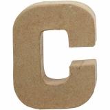 Buchstabe, C, H: 10 cm, B: 7,5 cm, dicke 1,7 cm, 1 Stck.