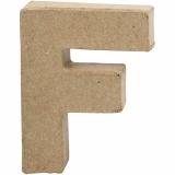 Buchstabe, F, H: 10 cm, B: 7,6 cm, dicke 1,7 cm, 1 Stck.