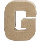 Buchstabe, G, H: 10 cm, B: 7,7 cm, dicke 1,7 cm, 1 Stck.