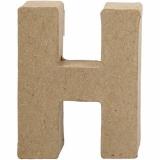 Buchstabe, H, H: 10 cm, B: 7,6 cm, dicke 1,7 cm, 1 Stck.