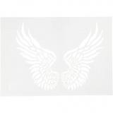 Schablone, Flügel, A4, 210x297 mm, 1 Stck.