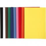 Velourpapier, Sortierte Farben, A4, 210x297 mm, 140 g, 10x5 Bl./ 1 Pck.