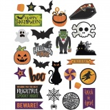 Etiketten, Halloween, Größe 20-100 mm, 250 g, 24x2 Stck./ 1 Pck.