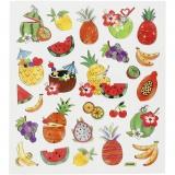 Sticker, Exotische Früchte, 15x16,5 cm, 1 Bl.