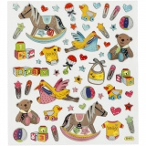 Sticker, Baby, 15x16,5 cm, 1 Bl.
