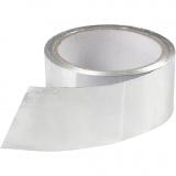 Aluminium-Band, Silber, B: 50 mm, dicke 0,05 mm, 20 m/ 1 Rolle
