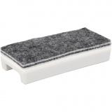 Wischer für Whiteboards, L: 14 cm, B: 6 cm, 1 Stck.