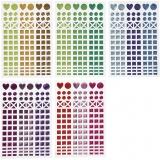 Mosaik-Sticker, Sortierte Farben, D: 8-14 mm, 11x16,5 cm, 10 Bl./ 1 Pck