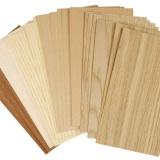 Bambus-Furnierplatten, 12x22 cm, Dicke 0,75 mm, 30 Bl. sort./ 1 Pck