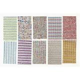 Strassstein-Sticker, Sortierte Farben, D: 4-6 mm, 16x9,5 cm, 10 Bl./ 1 Pck.