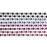 Strasssteine zum Aufkleben, Schwarz, Blau, Flieder, Rot, L: 15 cm, B: 4 mm, 8 Bl./ 1 Pck.