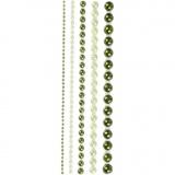 Halbperlen, Grün, Größe 2-8 mm, 140 Stck./ 1 Pck.