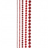 Halbperlen, Rot, Größe 2-8 mm, 140 Stck./ 1 Pck.