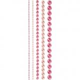 Halbperlen, Pink, Größe 2-8 mm, 140 Stck./ 1 Pck.