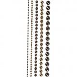 Halbperlen, Braun, Größe 2-8 mm, 140 Stck./ 1 Pck.