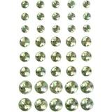 Strasssteine, Grün, Größe 6+8+10 mm, 40 Stck./ 1 Pck.