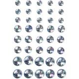 Strasssteine, Blau, Größe 6+8+10 mm, 40 Stck./ 1 Pck.