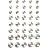 Strasssteine, Kristall, Größe 6+8+10 mm, 40 Stck./ 1 Pck.