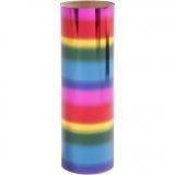Dekofolie, Regenbogenfarben, B: 15,5 cm, dicke 0,02 mm, 50 cm/ 1 Rolle