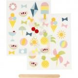 Rub-on Sticker, Urlaub, 12,2x15,3 cm, 1 Pck.