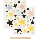 Rub-on Sticker, Sterne, 12,2x15,3 cm, 1 Pck.