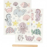 Rub-on Sticker, Meer, 12,2x15,3 cm, 1 Pck