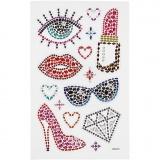 Diamant-Sticker, Party, 10x16 cm, 1 Bl.
