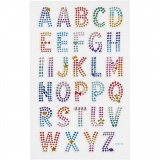 Diamant-Sticker, Alphabet, 10x16 cm, 1 Bl.